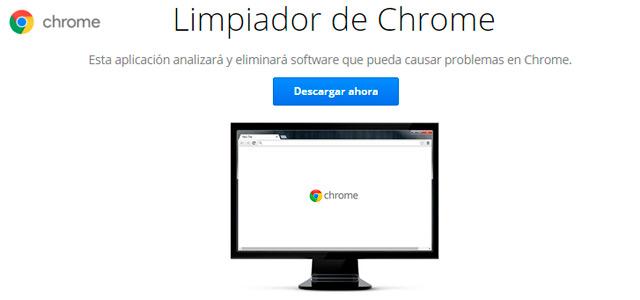 Herramienta de Google para limpiar Chrome