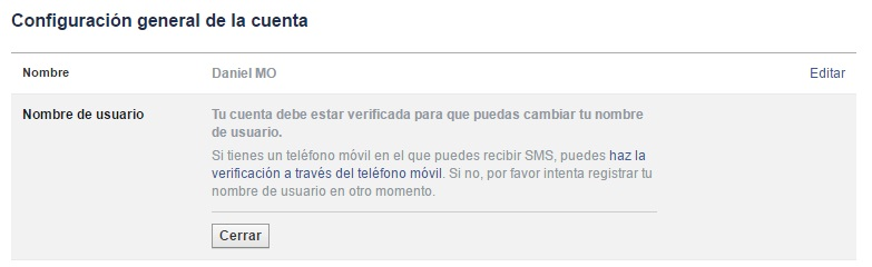 verificar cuenta facebook