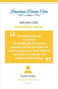 Opinión de Dreams Cars sobre Cronoseo
