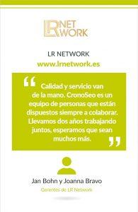 Opinión de LR Network sobre Cronoseo